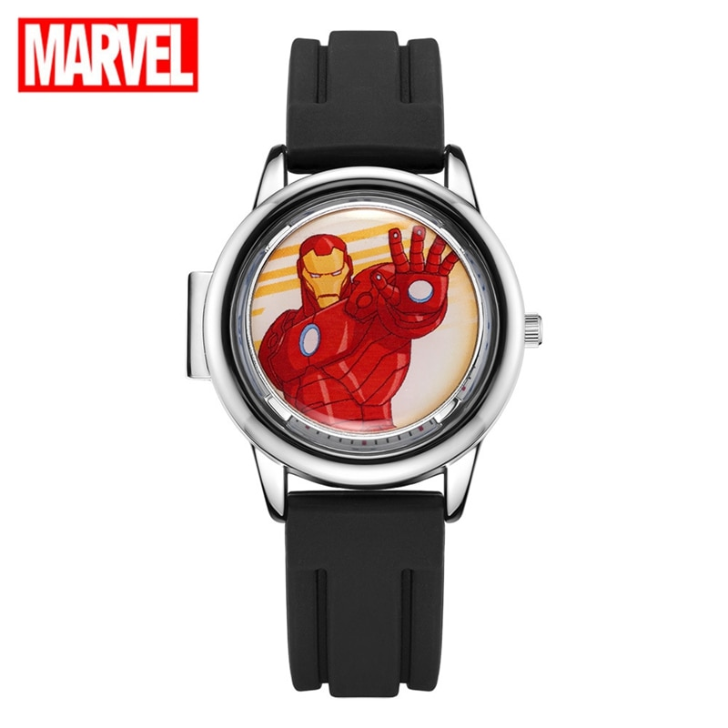 Marvel Avengers Super Hero Iron Men Children Quartz Waterproof Flip Watch Child Watches For Kid Student Clock Boy Gift Rotatable