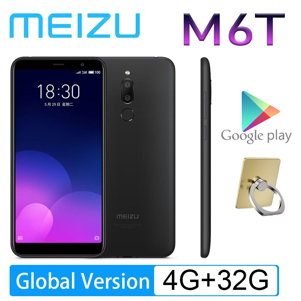 98%New Smartphone Android Meizu M6T 4G 64G 5.7'' Full Screen Cellphone Global Version MT6750 Super MBack Ingerprint Payment