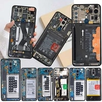 internal circuit board funda for motorola one fusion g9 play g8 power g30 e6s edge plus g60 g50 g20 black soft phone cases