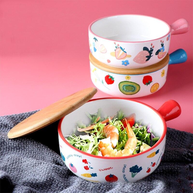 اليابانية رامين السلطانية سلطة الأرز المعكرونة السلطانية الفاكهة حساء طبق للنودلز الميكروويف أدوات مائدة خزفية 650 مللي