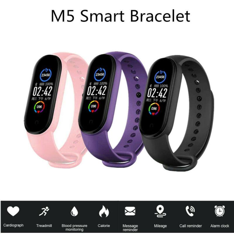 M5 Smart Watch Sport Smart Band Heart Rate Fitness Tracker Pedometer Blood Pressure Monitor Watches Men Women For Android IOS
