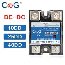 CG SSR-10DD 25DD 40DD 200A 600A SSR Monofase DC Controllo DC Dissipatore di Calore 3-32VDC Per 220VDC 600V 10A 25A 40A DD Relè A Stato Solido