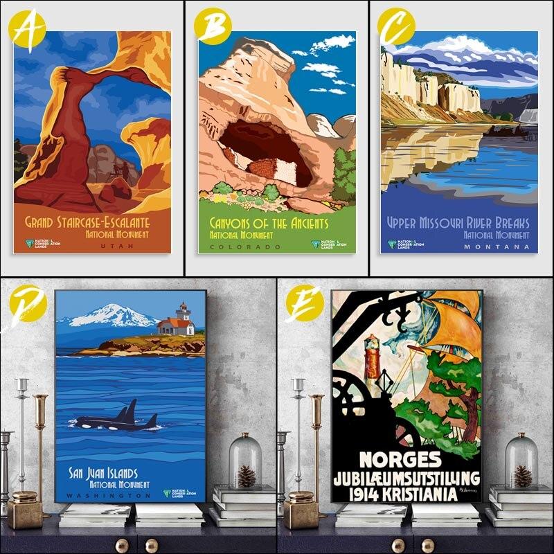 Cuadro sobre lienzo para pared AMALFI moderno, póster e impresión de galería,...