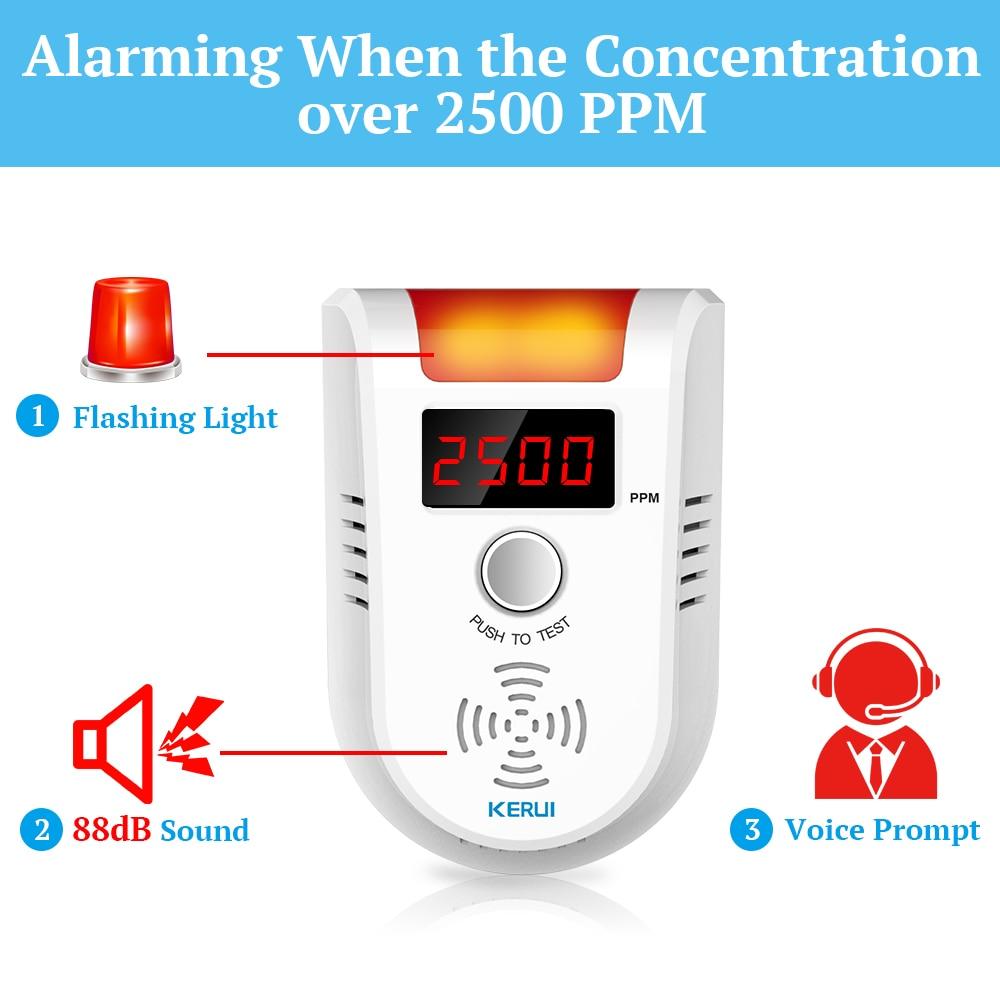 KERUI Wireless Home  GSM WIFI Security  Gas Detector Leakage Detector Built in Siren With Outdoor Solar Siren