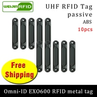 UHF RFID metal tag omni-ID EXO600 915m 868mhz Impinj Monza4QT 10pcs free shipping durable ABS smart card passive RFID tags