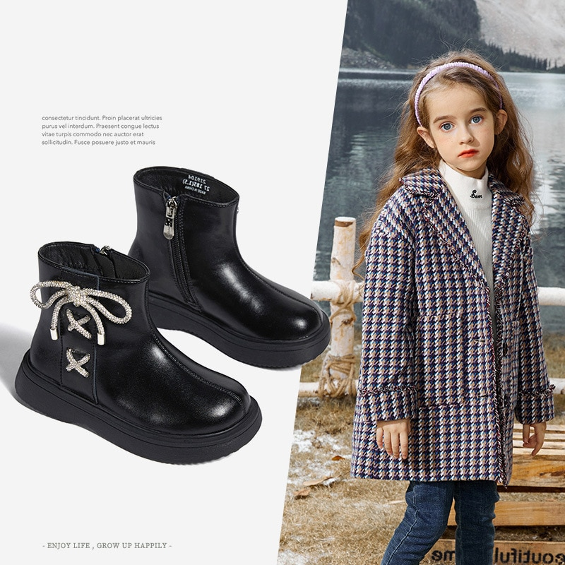new-winter-kids-boots-baby-girls-bow-ankle-shoes-children-fashion-leather-brand-shoes-bling-chelsea-boots-soft-princess-boots