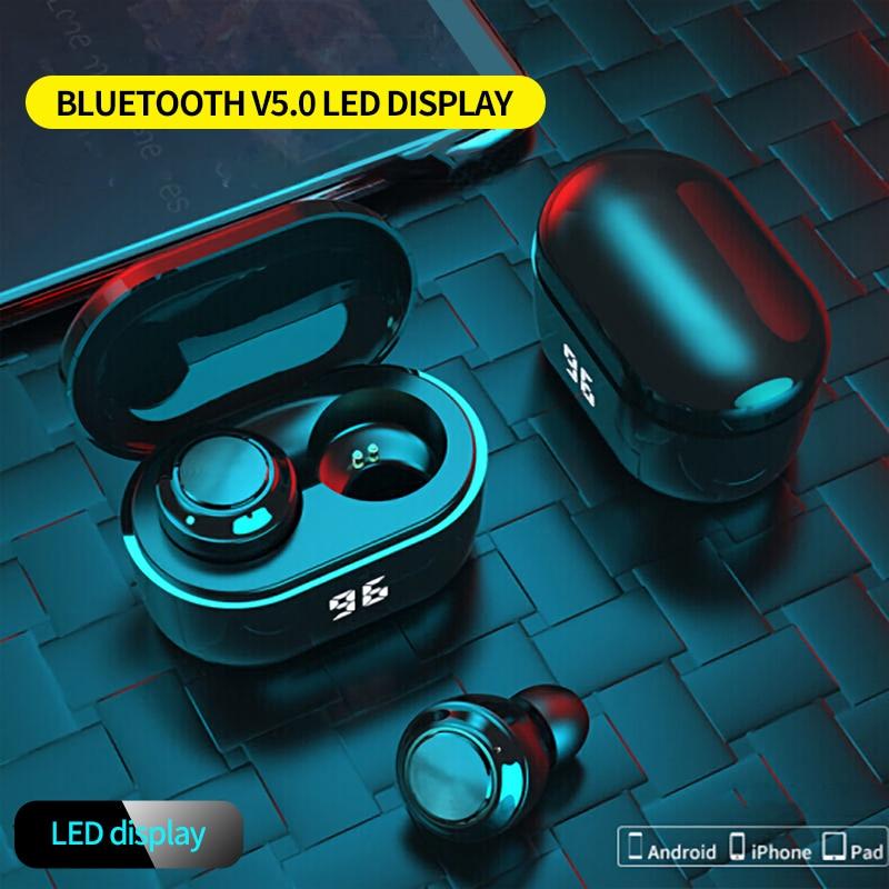 A6 True Wireless Bluetooth Earphones Mini TWS Bluetooth 5.0 In-Ear Wireless Bluetooth Earphones for Sports Earbuds Gaming