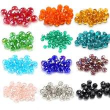 En gros 4-8mm verre à facettes clair perles rondes Rondelle cristal autriche perles pour bracelet collier fabrication de bijoux à bricoler soi-même résultats