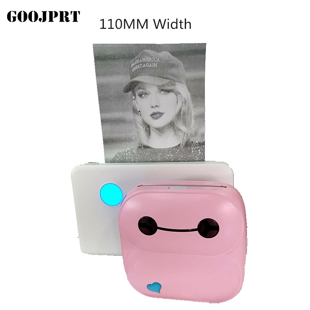 GOOJPRT, P4 Max, 112mm, impresora térmica portátil de bolsillo para fotos, impresora térmica de Bluetooth para Android iOS móviles, ventanas de teléfonos