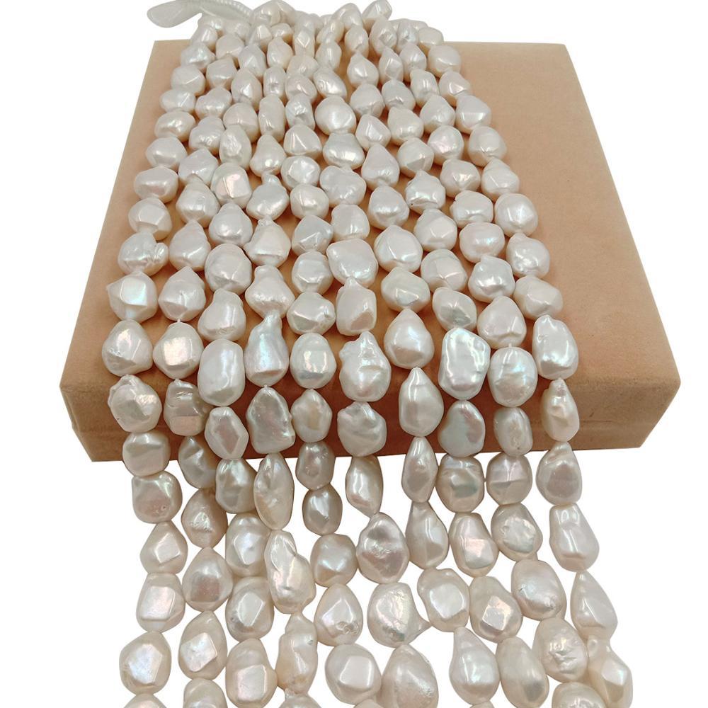 AAA alto brillo 16 pulgadas 14x20mm 100% perla suelta natural de agua dulce con forma Barroca de esquina grande, perla de gran forma Barroca KESHI