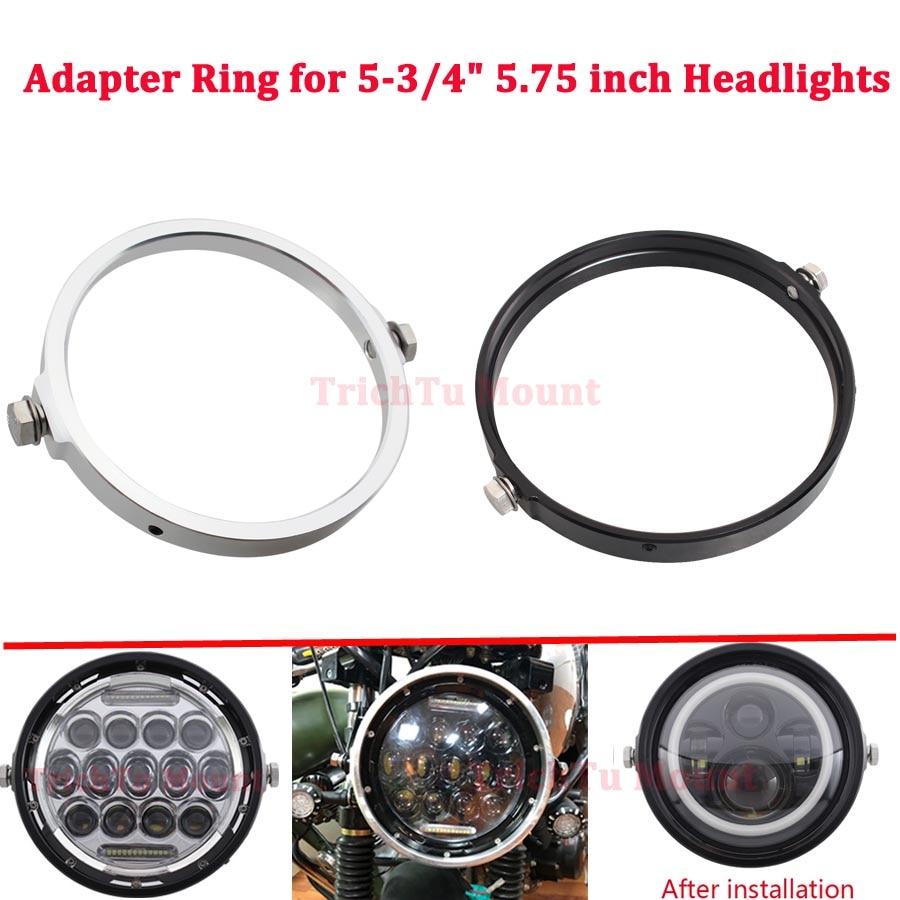 "Motorbike Headlamp Adapter Ring Headlight Mount Fit for 5.75 "" Round LED Headlights Motorcycle Accessories Headlight Bracket"