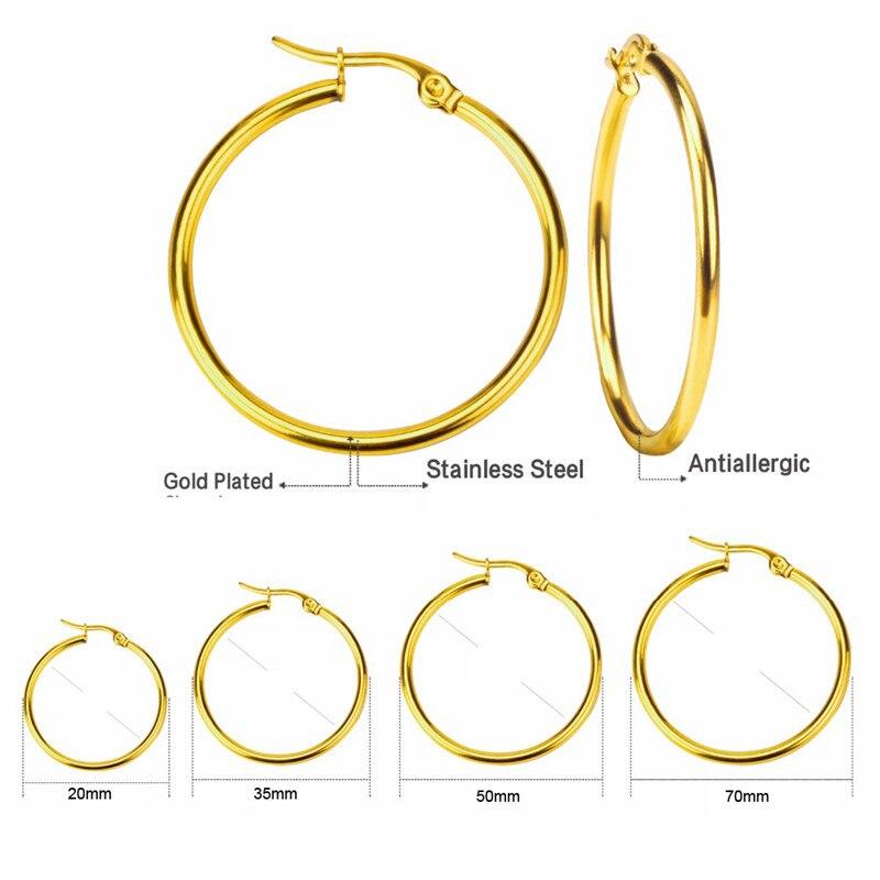 Pendientes simples de CR-121 para Mujer, Pendientes de baloncesto circulares de acero inoxidable de Color dorado/plateado para Mujer/chica