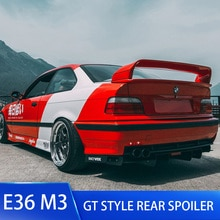 Alerón trasero del alerón del coche de la tapa del maletero para BMW E36 M3 GT estilo Material plástico ABS Color pintado alerón trasero serie E36 3 coupe
