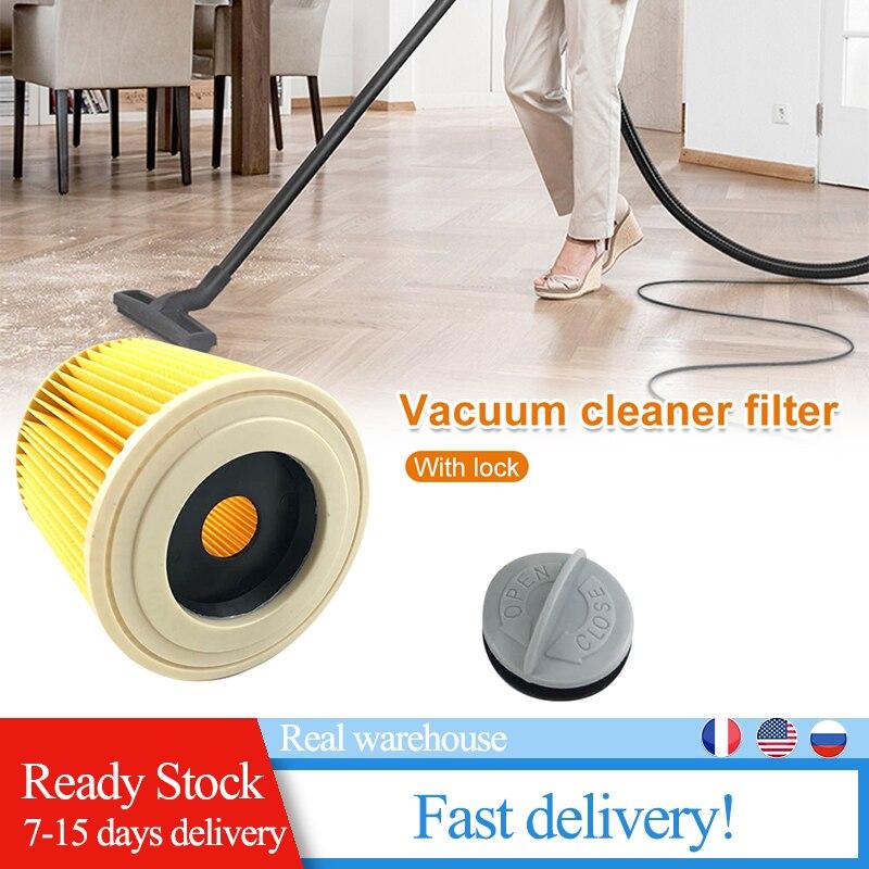 1 pçs substituição sacos de filtros poeira ar apto para karcher aspiradores peças cartucho filtro hepa wd2250 wd3.200 mv2 mv3 wd3