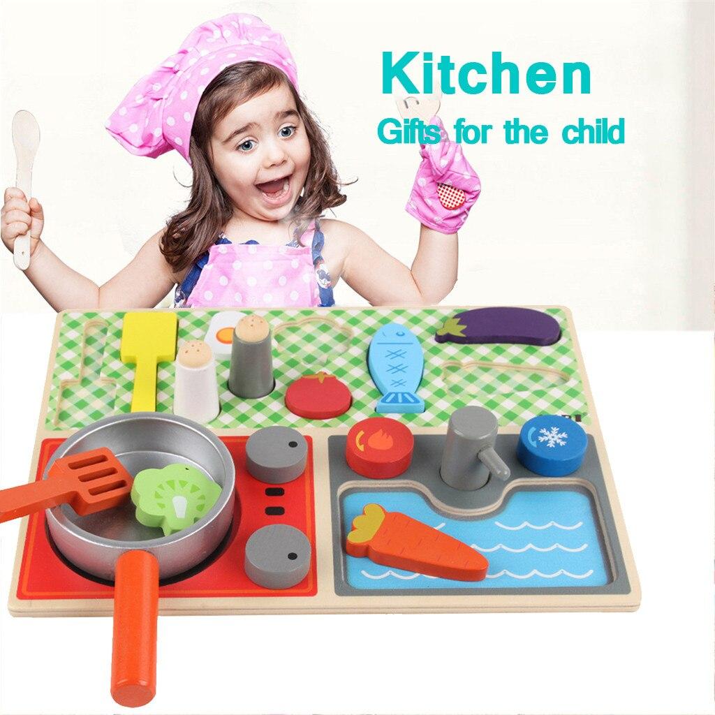 Los niños que juego de juguete de madera de cocina juego de niño juguetes clásico educativos juguetes M840 #