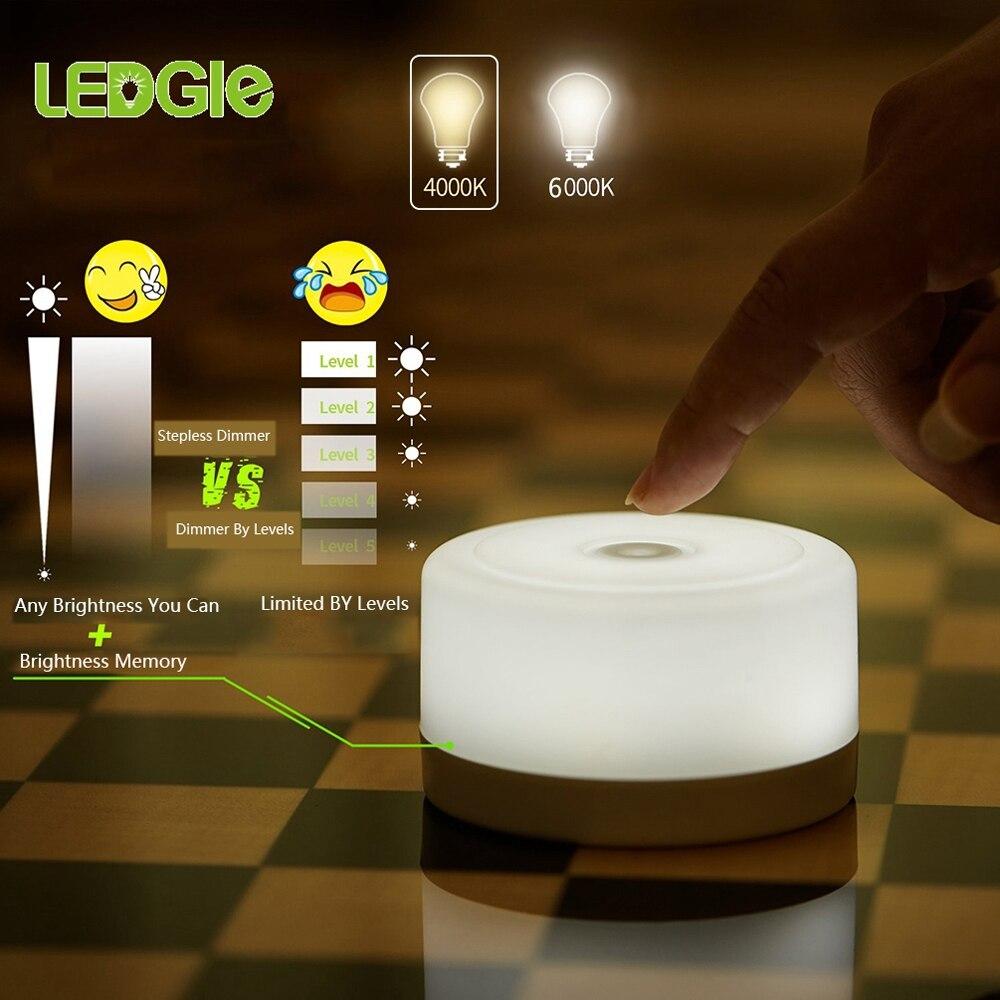 LEDGLE Touch Lamps Dimmer lampa stołowa Mini lampka nocna LED magnes Nightlight oświetlenie pulpitu dla dzieci przyjaźń prezent dla dzieci