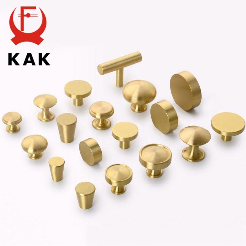 KAK Brass Furniture Handles Copper Cabinet Knobs Wardrobe Dresser Drawer Kitchen Cupboard Chinese Style Door Handle Pulls