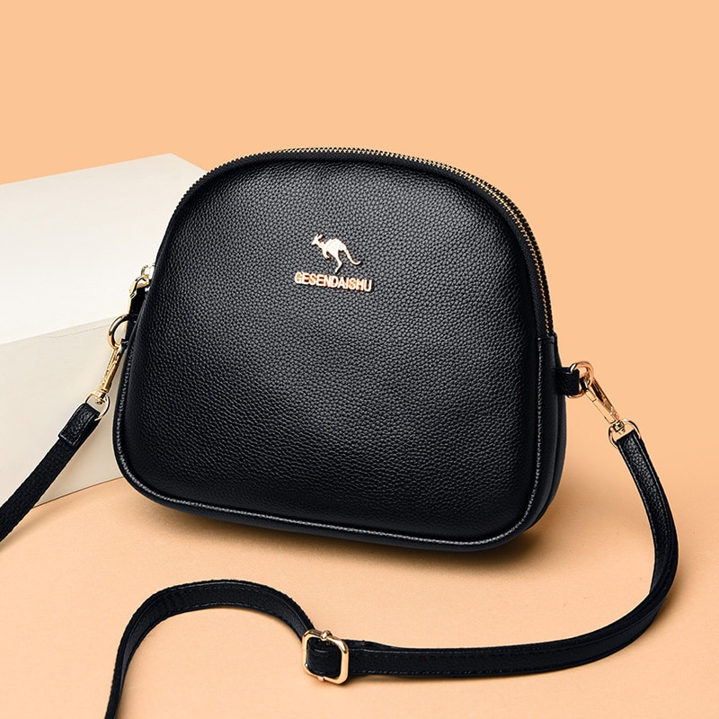 Luxury Pu Leather Crossbody Bag Female Lychee Pattern Shoulder Bag Famous Brand Design Handbags Women Casual Messenger Bags Sac