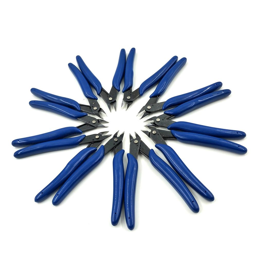 10 Uds. Cortadores de Eléctrico Cable, tijeras laterales de corte, Mini alicates, alicates de perno, herramientas manuales de bricolaje, alicates oblicuos pequeños para la nariz