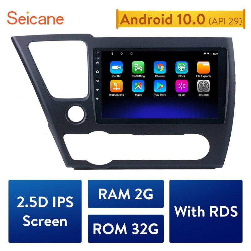 "Seicane para 2014 de 2015 de 2016 HONDA CIVIC 2017 auto estéreo unidad multimedia 9 ""Quad-core Android 10,0 HD pantalla táctil de navegación GPS"