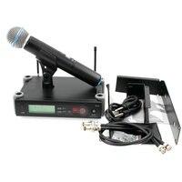 SLX24 UHF Karaoke Wireless Microphone System with Transmitter Mic Rack Mounting Bracket Rack Kits