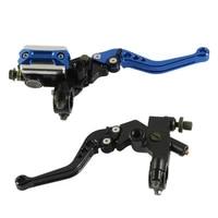 50 dropshipping 2pcs brake lever adjustable pivot design 22mm motorcycle clutch cylinder for dirt bike