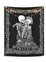 mandala skull printed wall hanging tapestry beach blanket picnic yoga mat home art for living room house door bar decoration