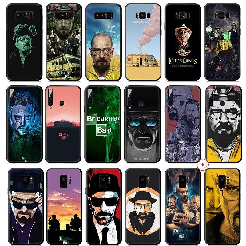 Heisenberg Breaking Bad Caso Silicone Suave para Samsung Galaxy S10 S10e S9 10 S8 Plus S7 Borda para Samsung Nota 9 8 Plus