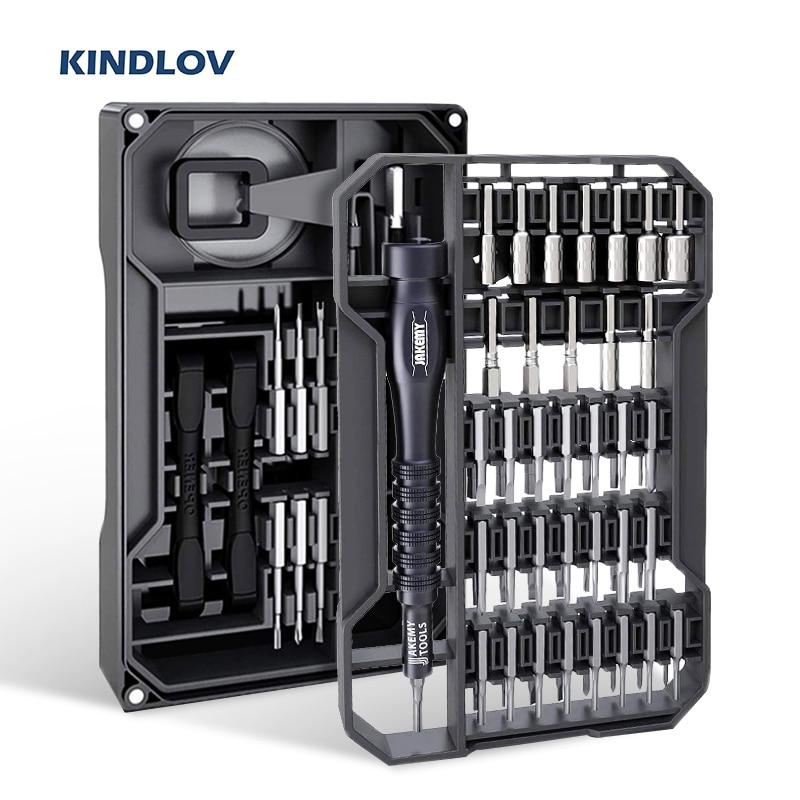 KINDLOV Screwdriver Set Magnetic Screw Driver Bits Precision Torx Phillips Hex Bit 73 In 1 Multitools Phone Repair Hand Tool Kit