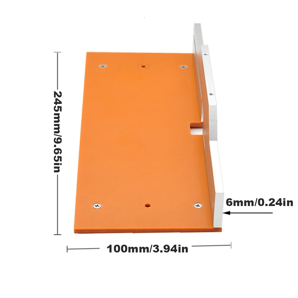 Trimming Flip Board Woodworking Electric Wood Milling Trimming Flip-Chip Aluminum Woodworking DIY Designed With Scale And Ruler enlarge