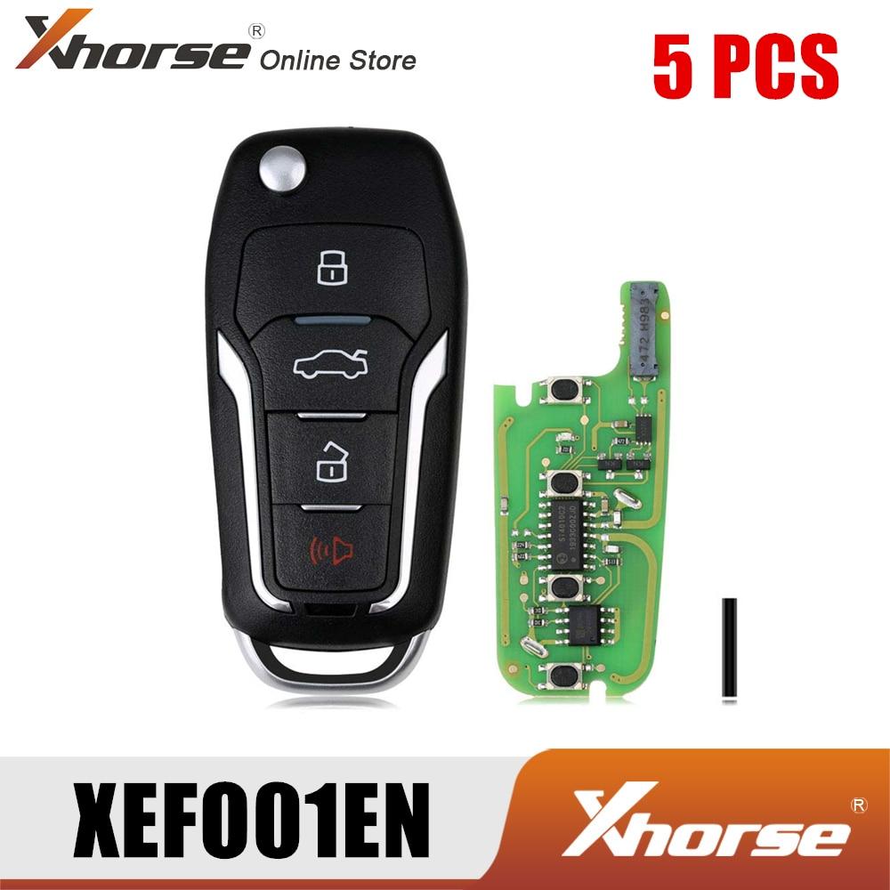 Xhorse XEFO01EN سوبر مفتاح بعيد لفورد الوجه 4 أزرار المدمج في سوبر رقاقة النسخة الإنجليزية 5 قطعة/الوحدة