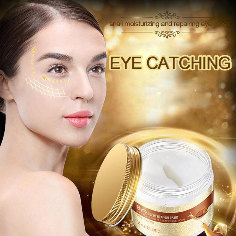Snail Collagen Gel Patches For Eyes Moisturizing Eye Patches Remove Dark Circles Eye Bag Firming Eye Mask Repair Eye Patch 80pcs