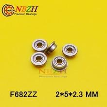 F682 6.1x2.3 zz 0.6 x mm   F682ZZ F682Z z 2z, bride à bride, roulements à gorge profonde, haute qualité, 2*5 * * mm