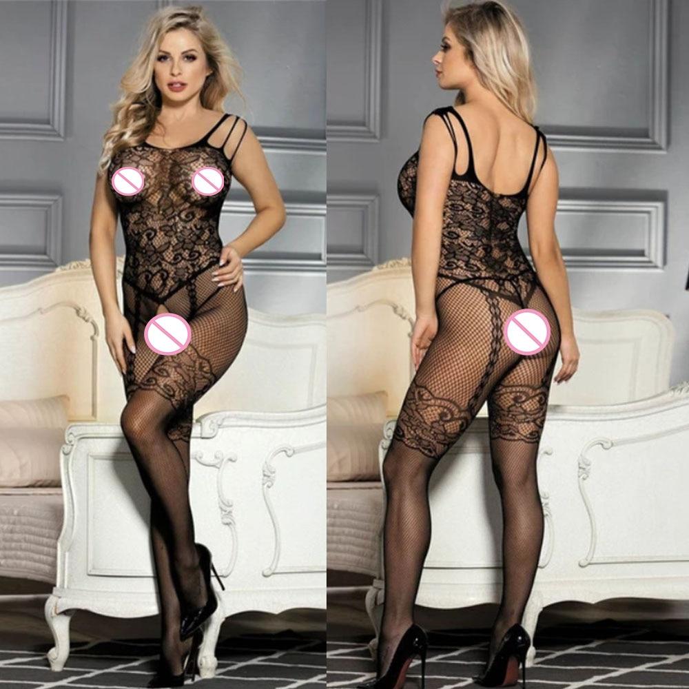 Sexy Bodystocking Open Crotch Fetish Porno Sexi Women Crochless Teddy Lingerie Bodysuit Sexy Erotic Underwear Baby Doll Costumes