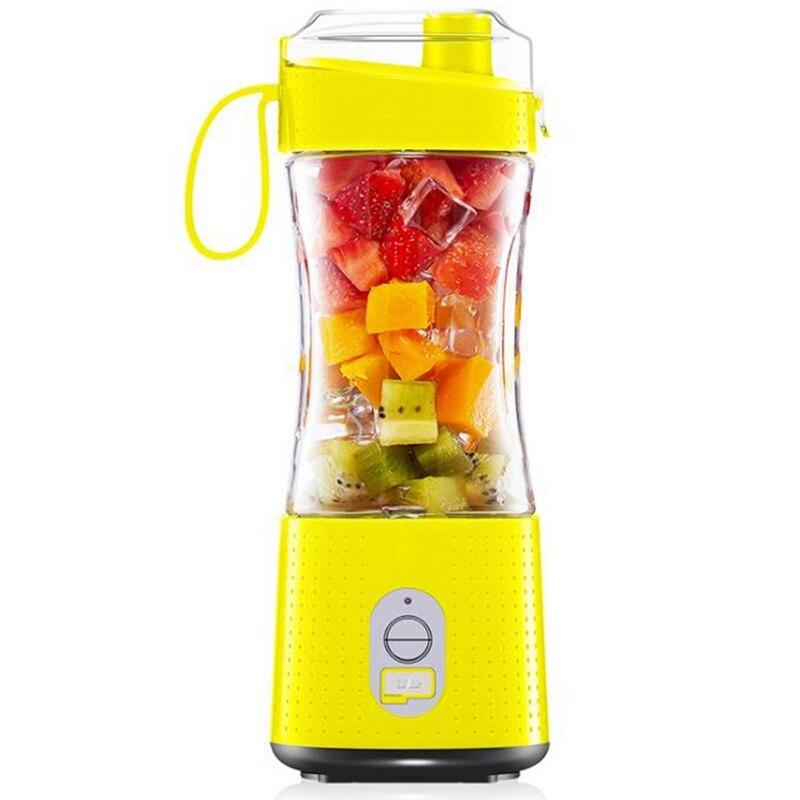 خلاط المحمولة الشخصية USB أكواب عصير قابلة للشحن 13Oz خلاط الفاكهة المحمولة الصغيرة للسفر مكتب المنزل الرياضة