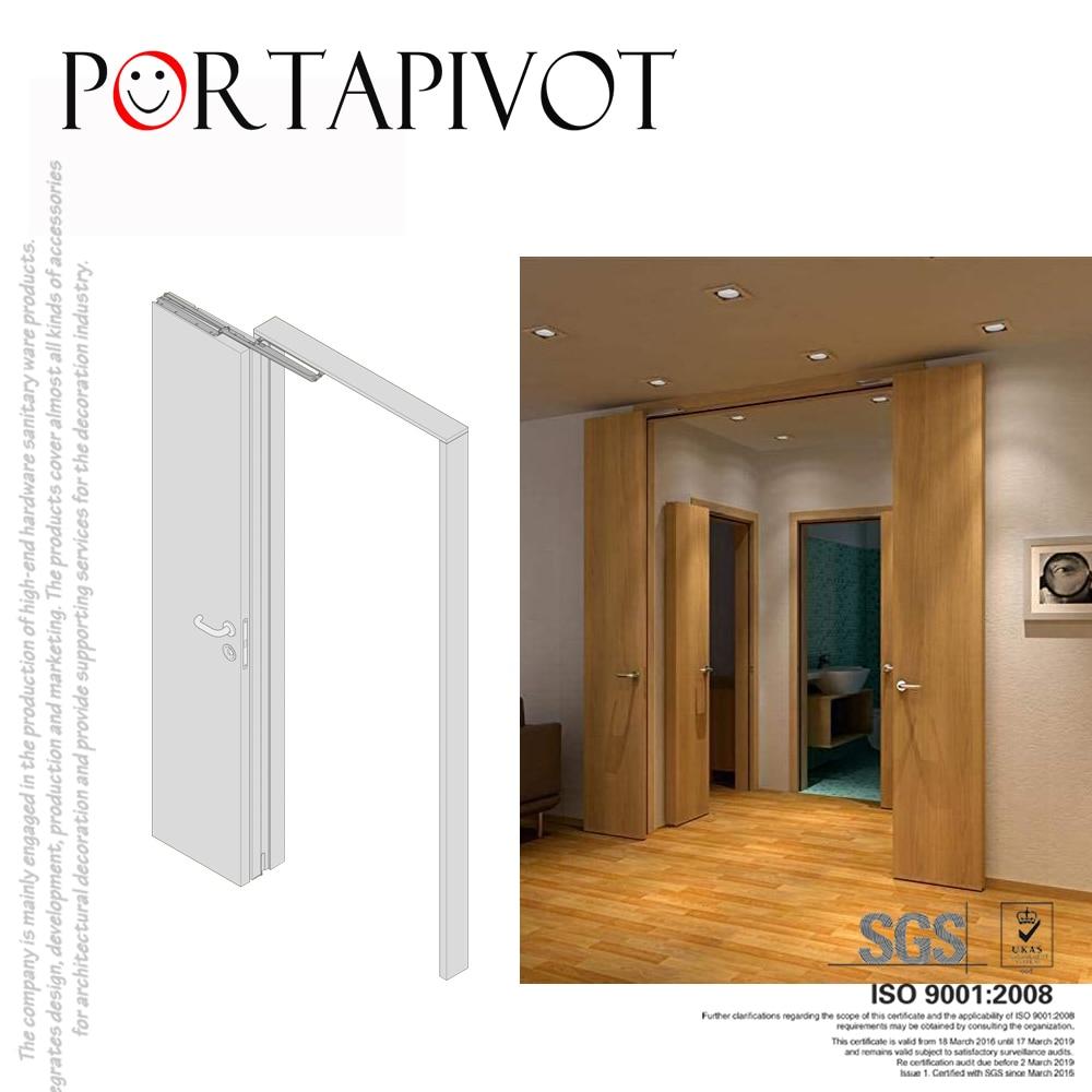 Portapivot مخزن 180 درجة الوصول الكامل للطي الباب نظام Bifolding الباب الأجهزة انزلاق باب الحظيرة الفولاذ المقاوم للصدأ 1 مجموعة