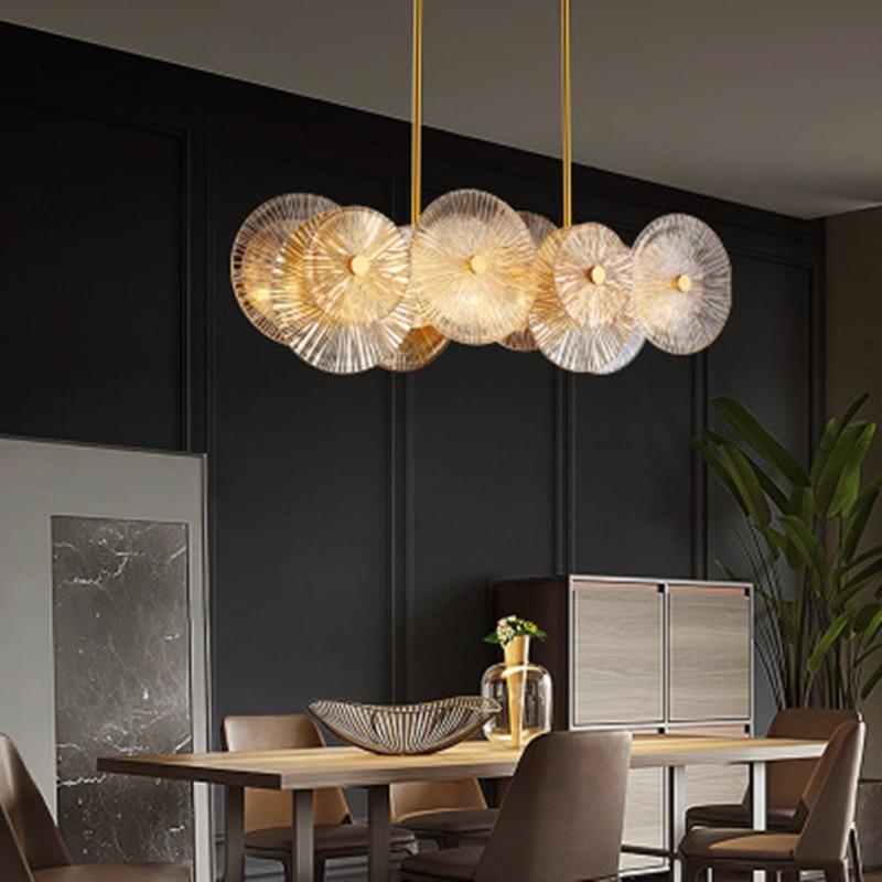ما بعد الحداثة الثريا ضوء الفاخرة بسيطة الشمال غرفة المعيشة غرفة الطعام غرفة نوم غرفة الشاي شخصية الزجاج مصابيح الإضاءة beaut
