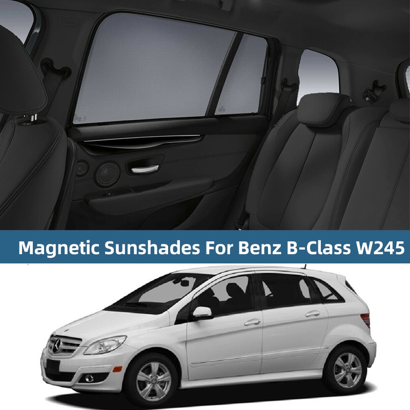 Tampa magnética para janela lateral do carro, para mercedes benz a b c e s classe g w213 w177 auto cortina para sombra do sol