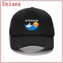 Save the polar bear, sombreros de sol blancos para mujer, sombrero de cubo, sombrero fresco de verano, nuevo sloutch, gorra de béisbol para mujer, gorras para hombre, 2020