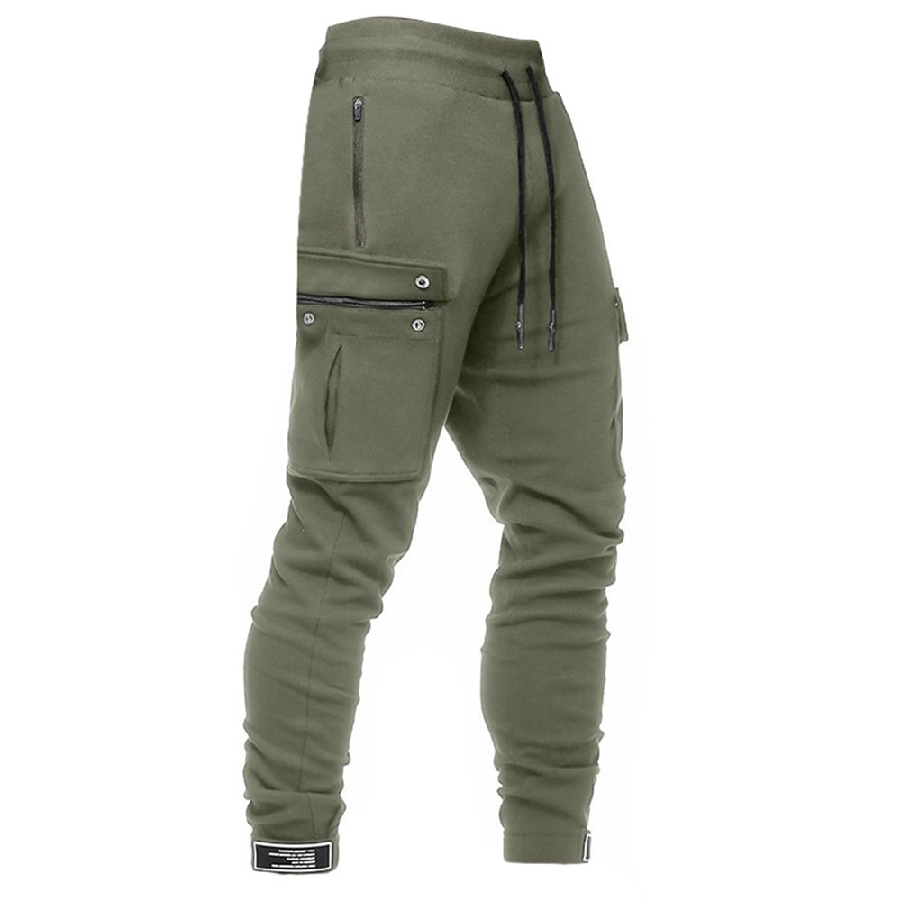 мужская одежда брюки мужские спортивные штаны Брюки-карго мужские с несколькими карманами, повседневные зауженные штаны с популярным лого...