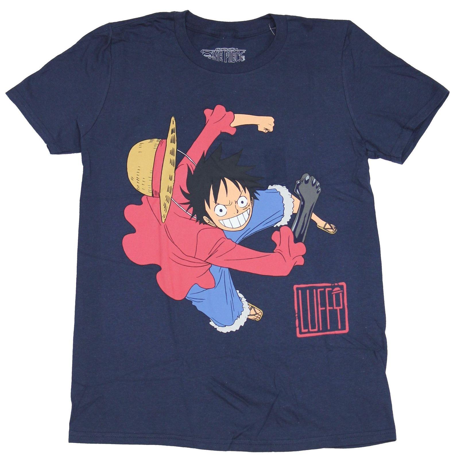Camiseta de una pieza para hombre Shonen Jump-Big rushed Luffy sobre el nombre de la camiseta de dibujos animados para hombres Unisex nueva camiseta de moda envío gratis