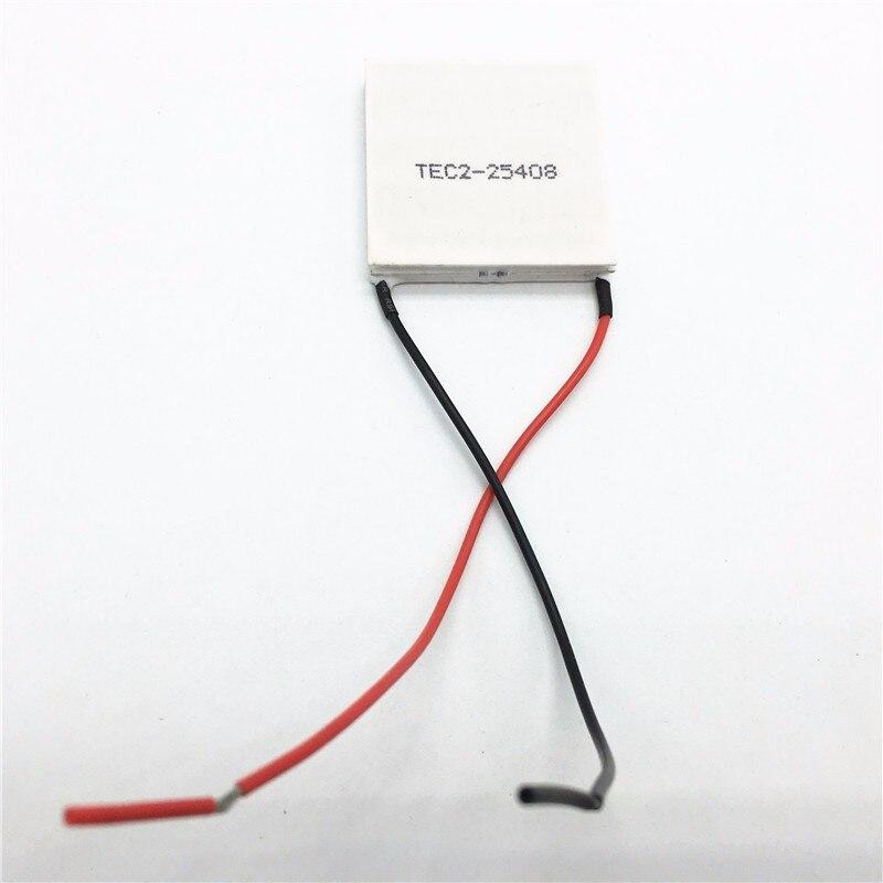 2 قطعة مزدوجة-طبقة أشباه الموصلات التبريد ورقة TEC2-25408 40*40 مللي متر 12V8A الفرق في درجة الحرارة 80 درجة