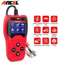 Ancel BA201 12 В тестер аккумулятора автомобильный прибор для проверки заряда от 100 до 2000CCA инструмент для проверки автомобильной батареи PK KW600