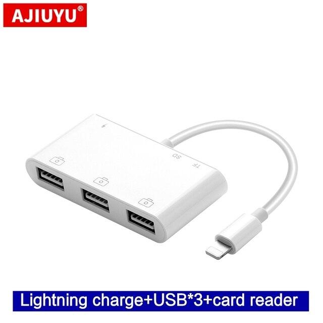 Ajiuyu Otg Lightning Usb Adapter Converter For Apple Ipad Air 3 2 Pro Mini 4 5 10 2 9 7 Hub Hdmi Dock Connect Keyboard Camera Computer Cables Connectors Aliexpress