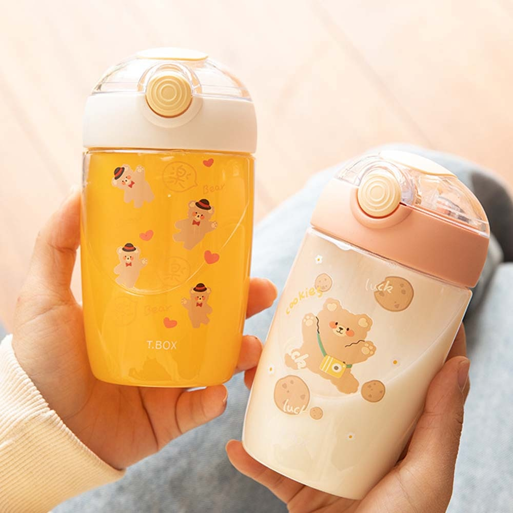 Portable Animal Cute Children Learning Water Cups Children Training Cup Graduated Sippy Cup Straw Cup