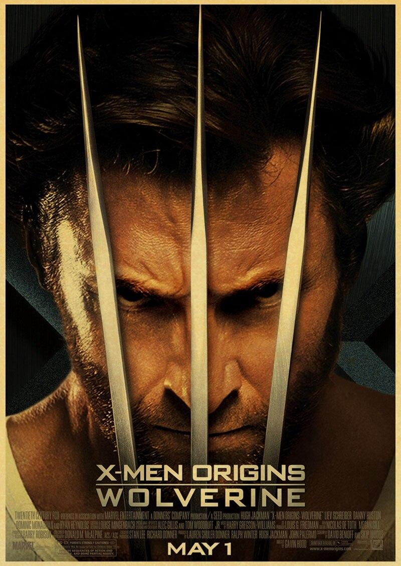 Süper kahraman x-men Origins Wolverine Hugh Jackman Vintage kağıt afiş duvar tablosu ev dekorasyon