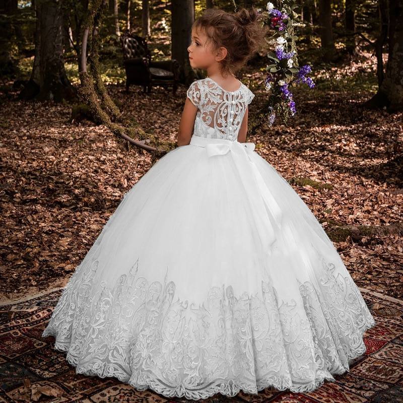 New Fashion Sequined Girls Princess Dress For Children's Clothes Kids Long Evening Dress Wedding Birthday Party Dress enlarge