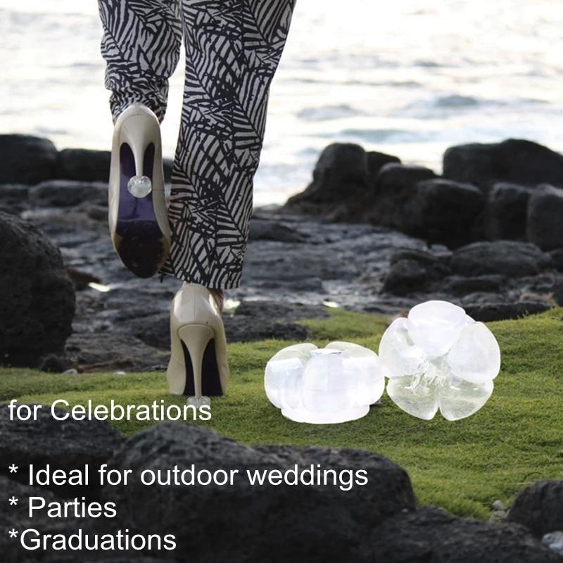 Rolhas de Silicone de Salto Protetores de Salto de Sapato para Casamentos e Festas ao ar Aohaolee Alto Stiletto Heel Covers Antiderrapante Mulheres Livre