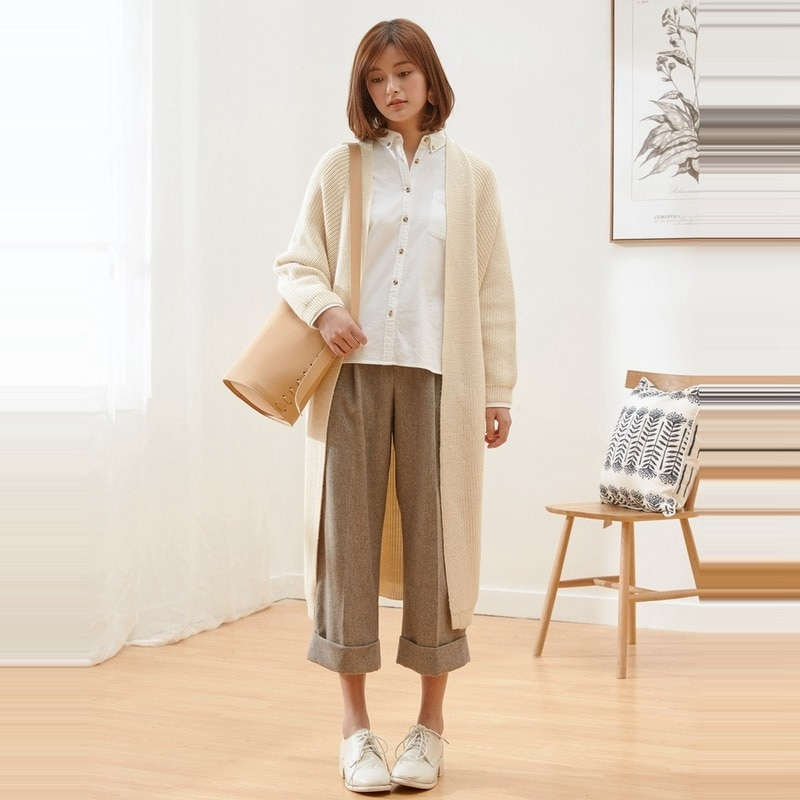 New Sweater Ladies Autumn and Winter Long Cardigan Jacket Elegant Office  Women Sweaters Knit