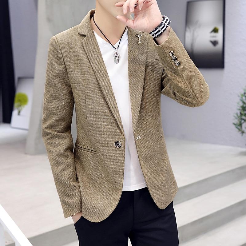 Spring Autumn Fashion New Brand men suit high quality mens suit jacket Korean version casual Suit Slim masculino Blazer